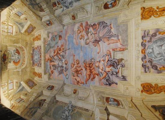 villa correr pisani affreschi