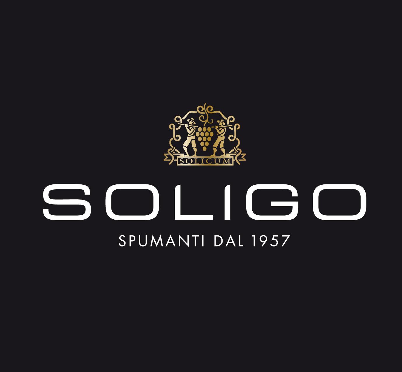 Logo cantina Colli del Soligo spumanti prosecco Conegliano Valdobbiadene sfondo nero